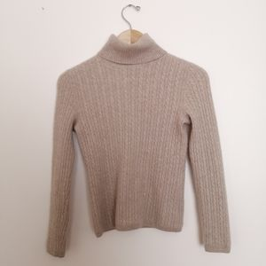 NWOT Daniel Bishop Cashmere Tan Turtleneck Sweater